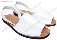 Женские кожаные сандалии  Менорки белые