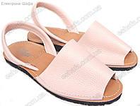 Женские кожаные сандалии  Менорки розовая пудра