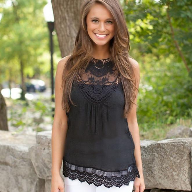 Женская блуза с кружевом AL7304