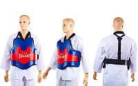 Защита корпуса (жилет) тренера PU ZEL ZB-8025 (наполнитель-пенополиуретан, р-р S-XL)