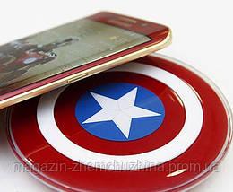 Беспроводное зарядное устройство Qi S2, в виде щита капитана Америка, железного человека!Акция, фото 3