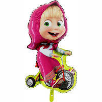 Гелиевый фольгированный шар Маша на велосипеде. Гелиевые шары Киев, гелиевые фигуры. Шары Троещина.