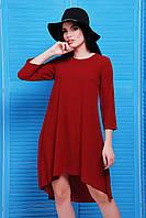 Легкое молодежное платье свободного силуэта