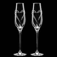 Свадебные бокалы с выгравированными сердцами, арт.Y-S6