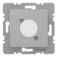 Накладка для XLR цилиндрических электросоединителей D-серии Berker B.3/B.7 Алюминий (14121404)