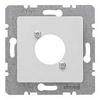 Накладка для XLR цилиндрических электросоединителей D-серии Berker S.1/B.3/B.7 Полярная Белизна Матовая (14121909)