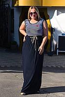 Платье  с полосочкой   баттал, фото 1