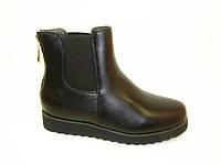 Ботинки женские черные сзади молния Д472 р 36,37,38,39,40