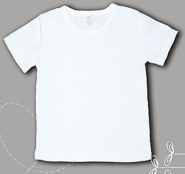 Белая футболка для мальчика и девочки