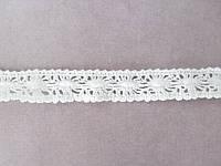 Кружево хлопковое белого цвета ширина 1,8 см, фото 1
