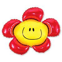 Гелиевый фольгированный шар  Цветок розовый. Гелиевые шары Киев, гелиевые фигуры. Шары Троещина.
