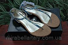 Босоножки - вьетнамки  женские  кожаные  Италия