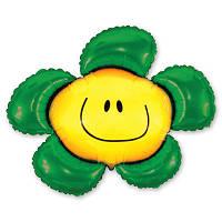 Гелиевый фольгированный шар  Цветок зеленый. Гелиевые шары Киев, гелиевые фигуры. Шары Троещина.