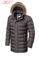 Куртка зимняя мужская удлиненная Braggart Aggressive - 3172C сафари