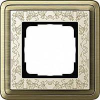 Установочная рамка 1-местная Gira ClassiX Art Бронза Кремовый (211663)