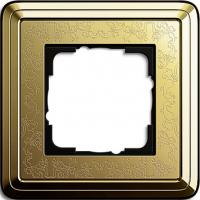 Установочная рамка 1-местная Gira ClassiX Art Латунь (211671)