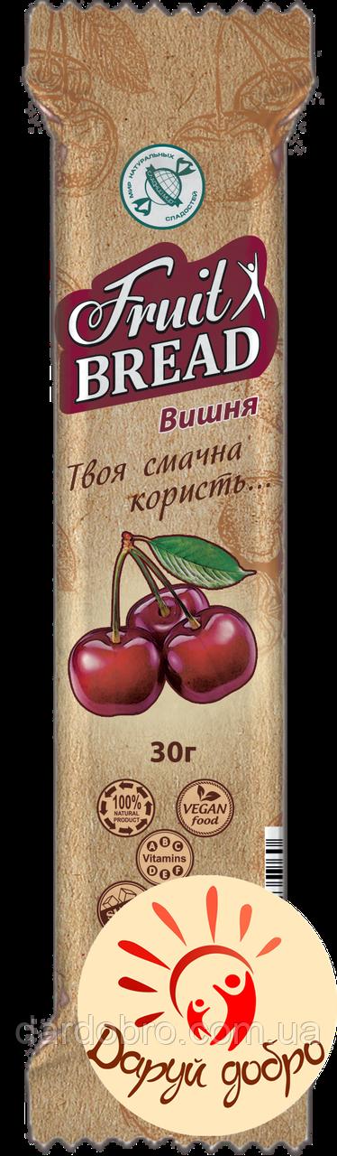Батончик злаковий «Фруктовий Хліб» Вишня 30 гр. упаковка 20 шт
