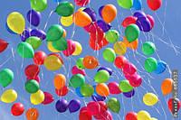 Воздушные шарики однотонные 100 шт