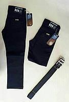Джинсовые брюки ZSG классические школьные черные, на мальчика 9-12 лет