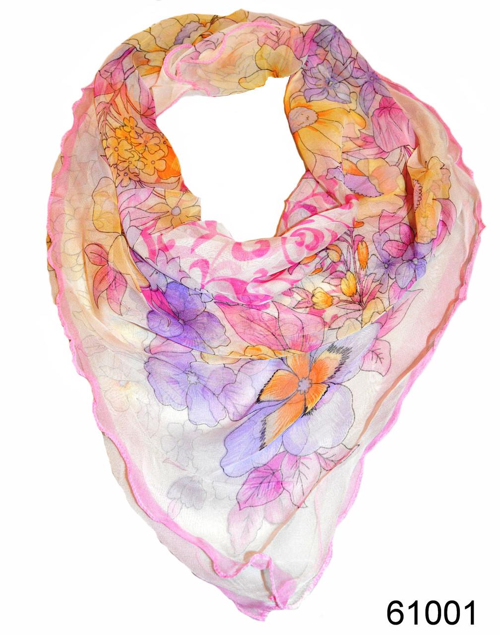 Нежный шейный платок 60*60  (61001)