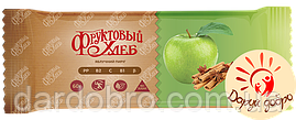 Батончик злаковий «Фруктовий Хліб» Яблучний пиріг 60 гр упаковка 12 шт