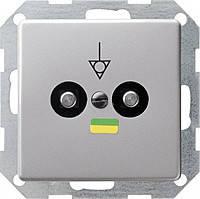 Коробка выравнивания потенциалов 2 местная Gira E22 Алюминий (405203)
