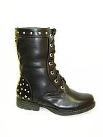 Ботинки женские зимние черные С523 р 36,38
