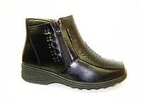 Ботинки женские зимние черные С524 р 39,40,41