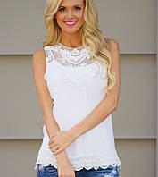 Блуза женская с ажуром РМ7304