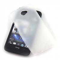 Матовый силиконовый чехол HTC Desire 601 white