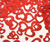 Конфетти сердца красные 250 гр