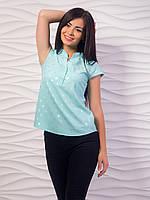 Женская блуза с воротником стойкой