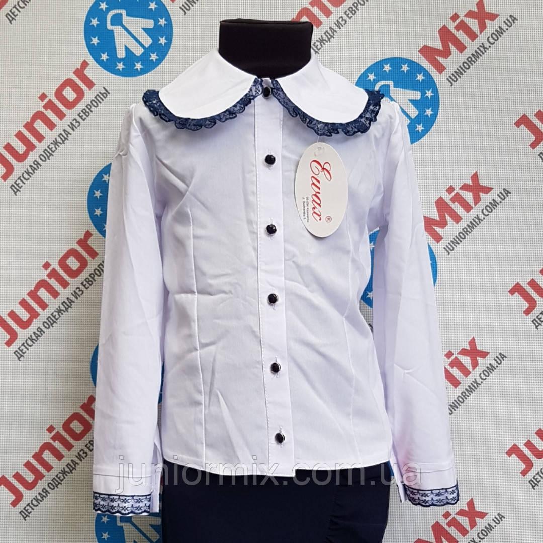 Белая детская школьная блузка для девочки EWAX.ПОЛЬША