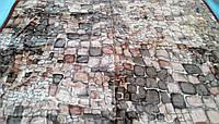 Плед акриловый двуспальный TRUE LOVE камни коричневые