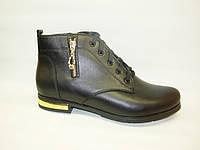 Ботинки женские черные натуральная кожа Д493 р 37,38,40