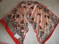 Шарф двойной Valentino шёлковый  можно приобрести на выставках в доме торговли Киев