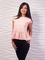Блуза женская по низу с воланом
