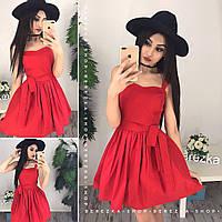 """Стильное женское платье """"Монро"""" в красном цвете"""