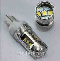 Светодиодная автолампа 7443, 15W (520Lm) Warm white (3300K) Samsung LED (SMD2323) безцокольная двухконтактная
