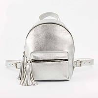 Серебристый рюкзак