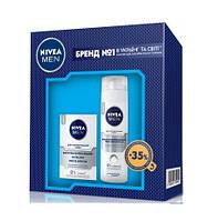 Набор Nivea для мужчин Пена  восстанавливающая  для чувствительной кожи 200мл + Бальзам п/бритья 100мл.