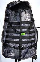Рюкзак туристический камуфляжный 55 L (черный)
