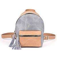 Рюкзак бежево-голубой, фото 1