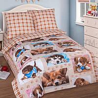 Подростковое полуторное постельное белье с простыней на резинке 90*200*25, Тотошка, поплин