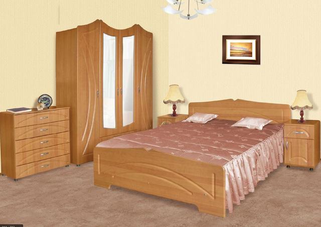 Кровать полуторная Гера в составе спального гарнитура Гера