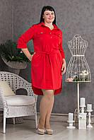 Женское платье рубашечного типа