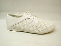 Туфли белые шнурок Т708 р 36,39,40