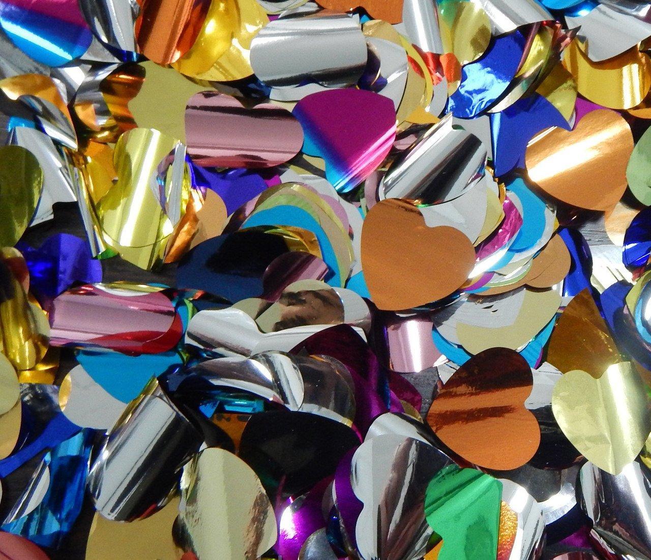 Конфетти  сердца фольгированные 200 гр большие - mega_dom в Одессе
