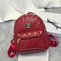 Женский мини рюкзак кожа ПУ Красный