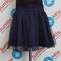 Детская  школьная юбка  с фатина для девочки  DEVA